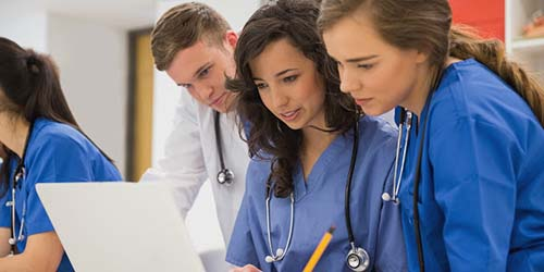 2 LPNs CONSULT WITH A PHYSICIAN